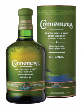 Connemara Irish Peated Single Malt Giftpack + glas