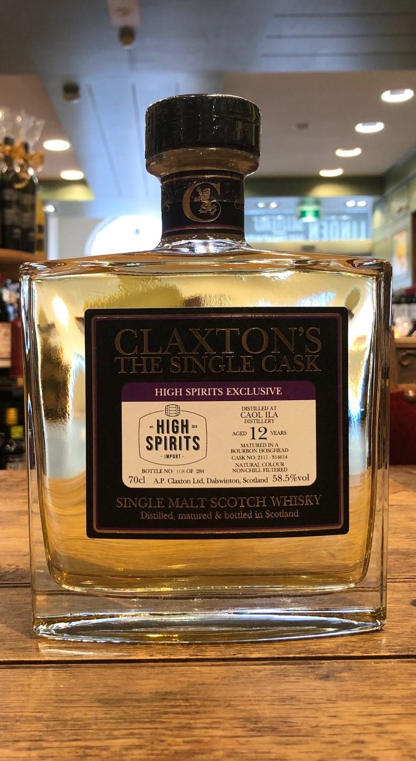 Claxton's | The Single Cask Range for HS | Caol Ila | 2007 | Islay | refill Bourbon cask |  12y | 58,5%