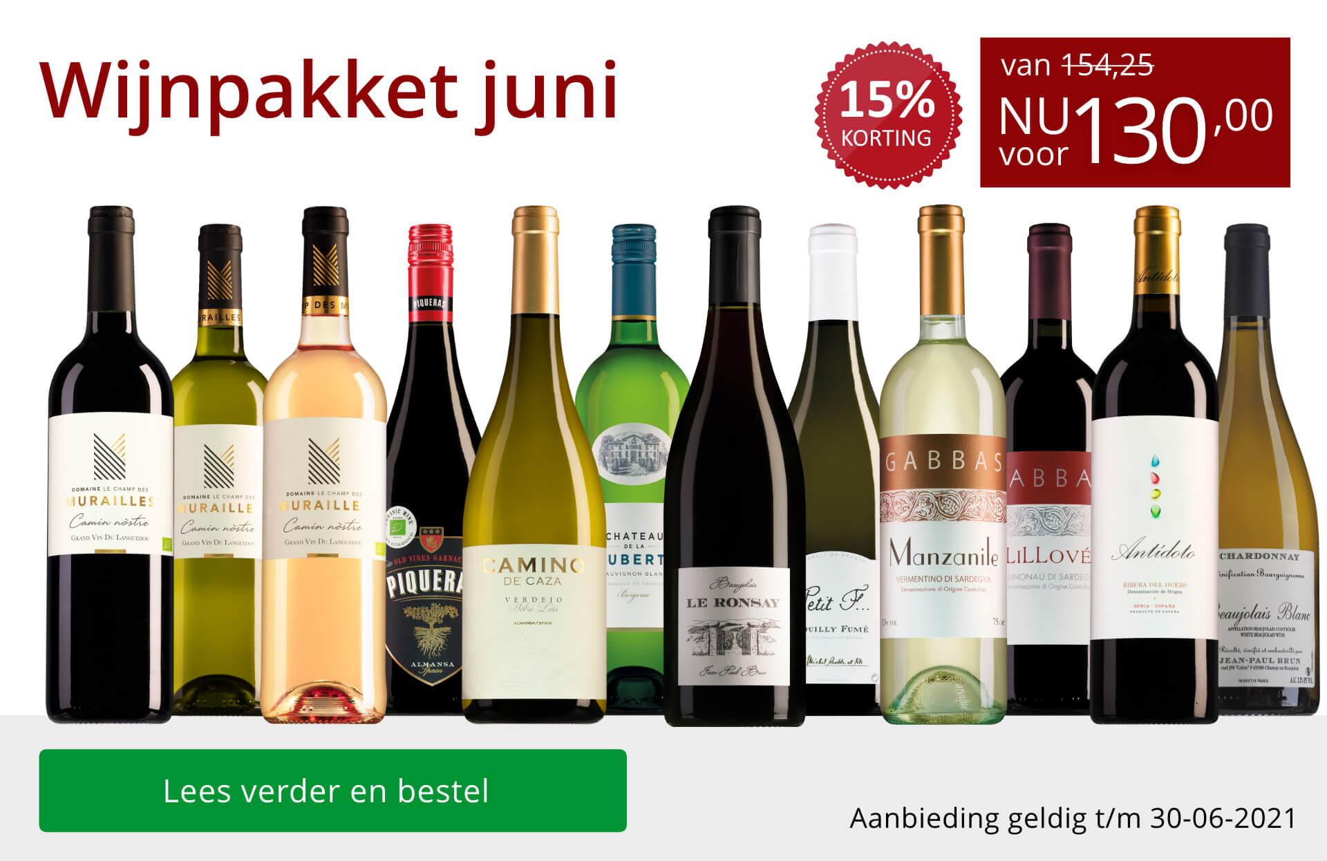 Wijnpakket wijnbericht juni 2021(130,00) - rood