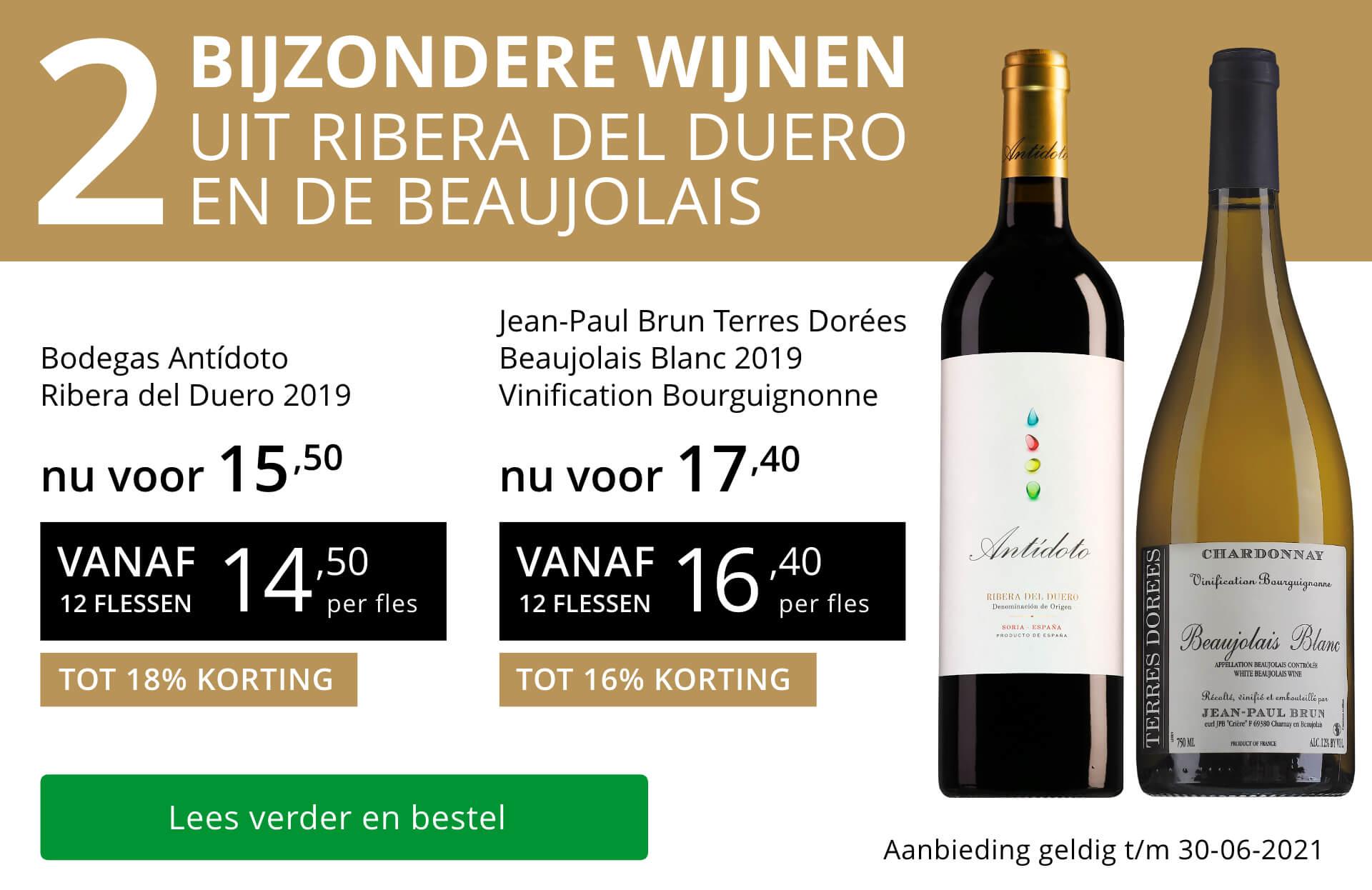 Twee bijzondere wijnen juni 2021 - goud/zwart