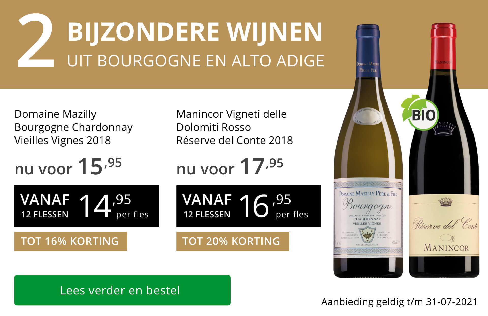 Twee bijzondere wijnen juli 2021 - goud/zwart